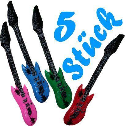 5 Stück Luftgitarren / aufblasbare Gitarren