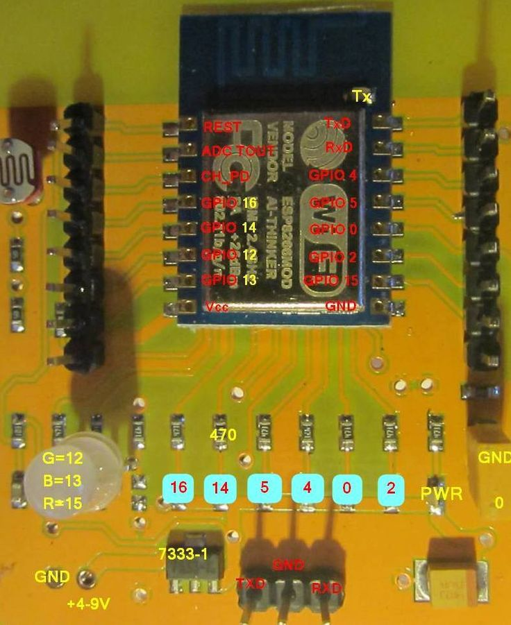 ESP-12 Evaluation Board Pinout