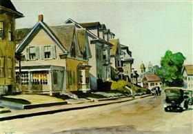 Sun on Prospect Street (Gloucester, Massachusetts) - Эдвард Хоппер