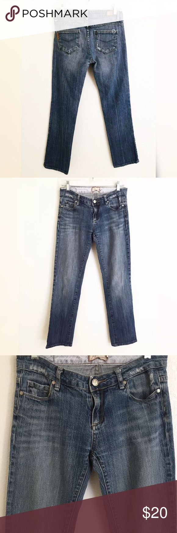Paige Premium Denim Sz 27 x  30 Melrose Jeans Waist is approximately 28 inches. Rise is approximately 8 inches. Inseam is 30 inches Nice preowned condition   Comes from a smoke free environment. Paige Jeans Jeans Straight Leg