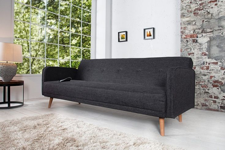 Sofa rozkładana  Scandinavia 200cm anthrazit