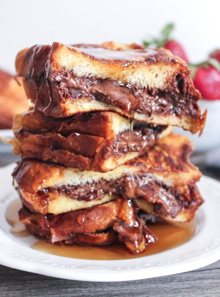 Nutella and Bacon Stuffed French Toast.  OMG, I think I just had a heart attack...