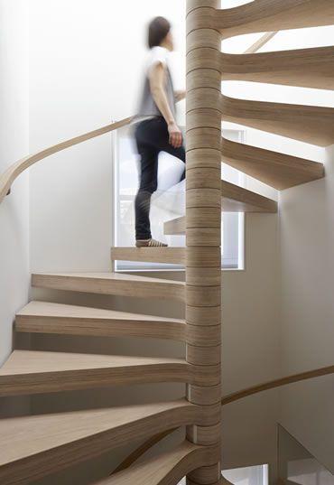 House in Chelsea - oak plywood stair
