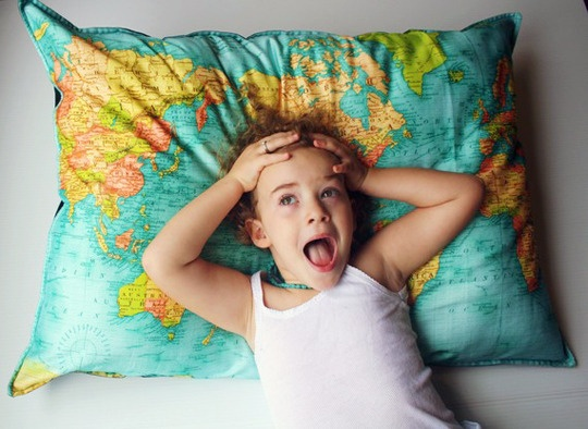 Map Pillow? Amazing...I can plan my travels while I sleep..