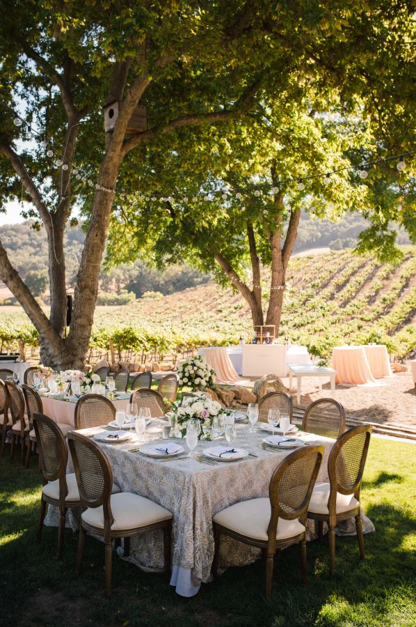 Sophisticated California vineyard wedding: http://www.stylemepretty.com/california-weddings/paso-robles/2016/03/26/sophisticated-vineyard-wedding-with-a-touch-of-glam/ | Photography: Viera Photographics - http://vieraphotographics.com/