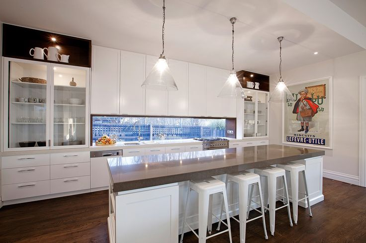 clever use of glass window in place of the standard splashback
