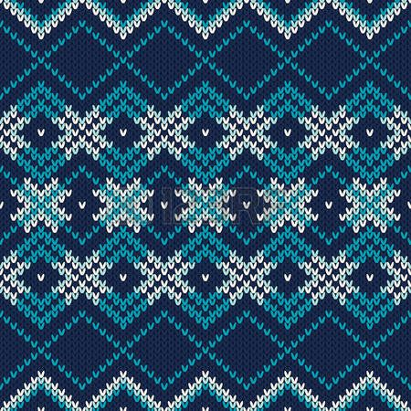 Seamless Fair Isle Knitted Pattern. Festive and Fashionable Sweater Design photo