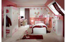 Ten pravý pokoj pro holky v bílo-růžovém provedení. Vše po čem malé princezny touží.