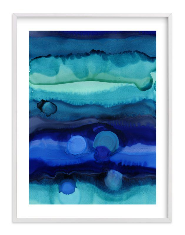 """""""Water Levels"""" - Art Print by Leslie M Ward in beautiful frame options and a variety of sizes."""