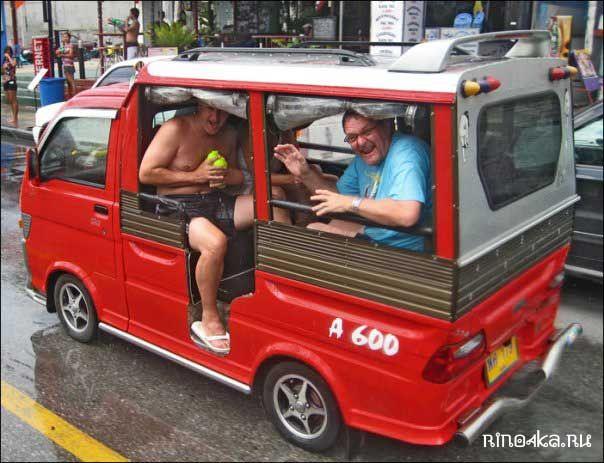 Цены на такси на острове Пхукет, тук-туки на Пхукете, цены на такси и тук-туки