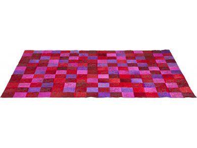 Dywan Patchwork czerwony