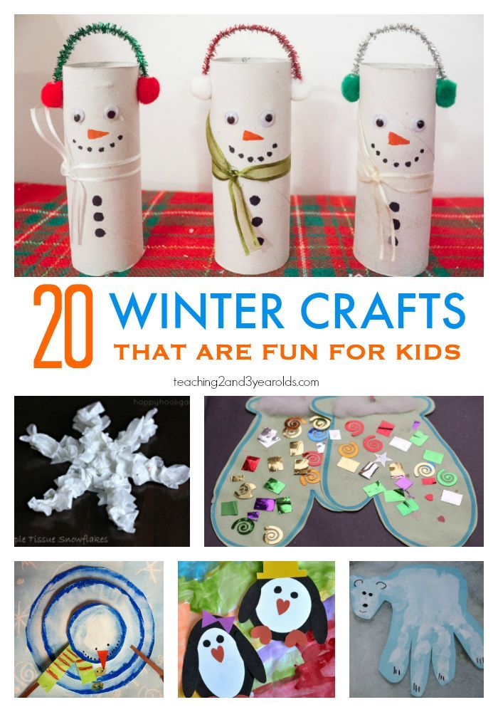 20 Fun Preschool Winter Crafts Teaching 2 And 3 Year Olds