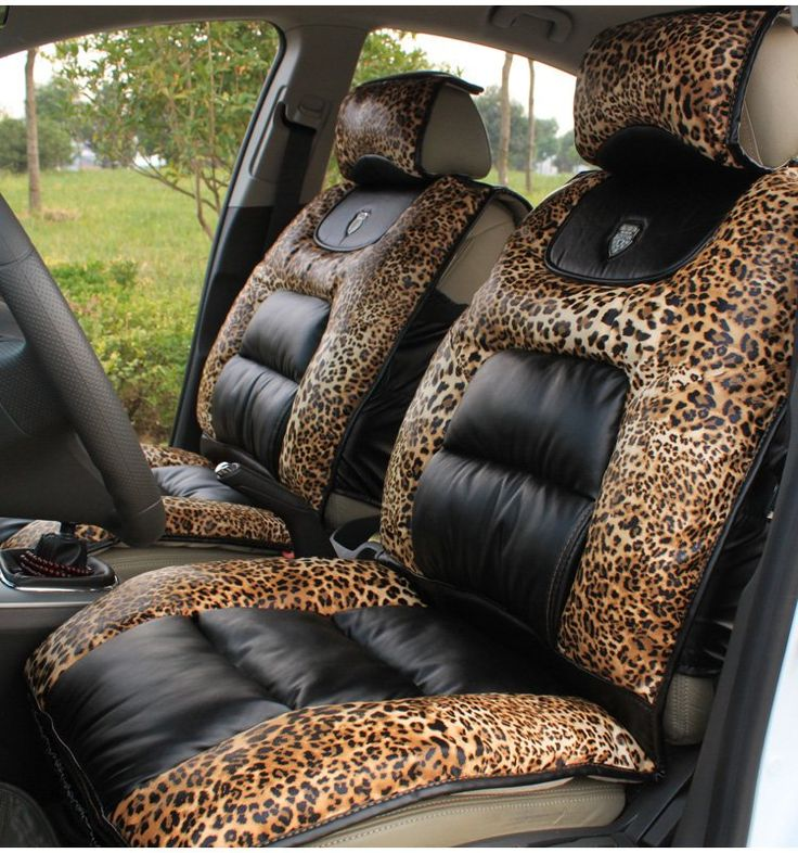Leopard Print And Black Car Interior Leopard
