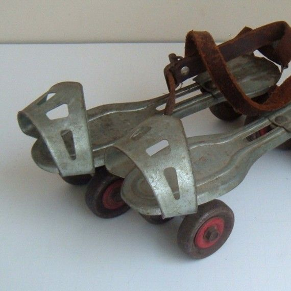 Roller skates, oh yes, so 50s & 60s..... would tear up the soles of your leather shoes... :-)