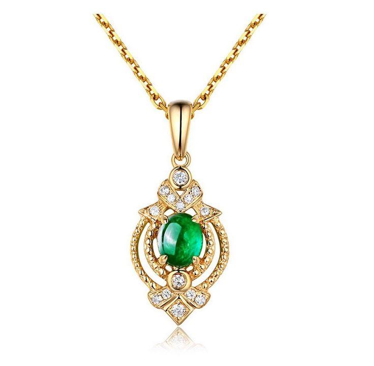Donatelle Pendentif Emeraude Diamant Sparklies Pendant