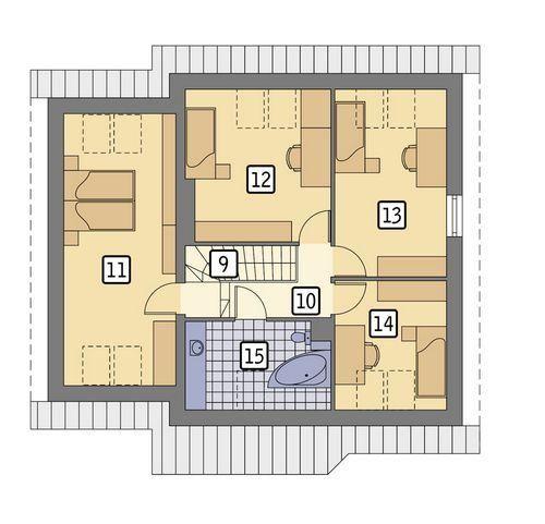 Rzut poddasza POW. 91,4 m²