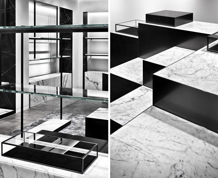 Alexander Wang new Shanghai studio - lovingggg the materials combo + metal/marble details