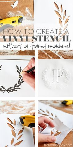 Awesome tutorial to make your own custom stencil in minutes | maisondepax.com