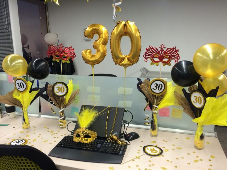 30 39 s birthday party decoraci n de cumplea os en oficina - Ideas para sorprender en un cumpleanos ...