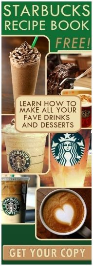 Find out how to make all of your favourite Starbucks drinks! Yum :)  http://womenfreebies.co.uk/general-freebies/free-starbucks-recipe-book/