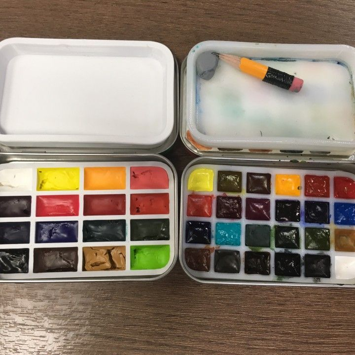 Plein Air Watercolor Palette Using Altoid Tin Image Plein Air