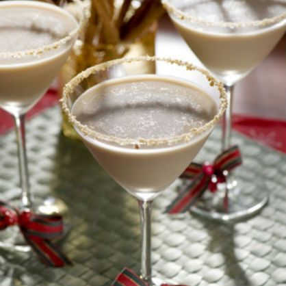 Pumpkin Pie Martini Ingredients:  1/2 oz. Stoli Vanilla (optional to give it kick) 1 oz. pumpkin spice liqueur (such as Hiram Walker) 1/2 oz. Kahlua 1/2 oz. Butterscotch Schnapps 1/2 oz. half-and-half crushed graham crackers cinnamon stick (garnish)  Preparation:  Add all liquids in a shaker filled with ice. Shake and strain into large martini glass rimmed with crushed graham crackers. Garnish with a cinnamon stick.