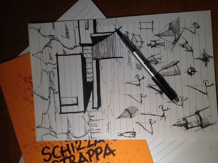 SKETCHING A SKETCH  ARCHITECTURE DRAWING ARCHITETTURA