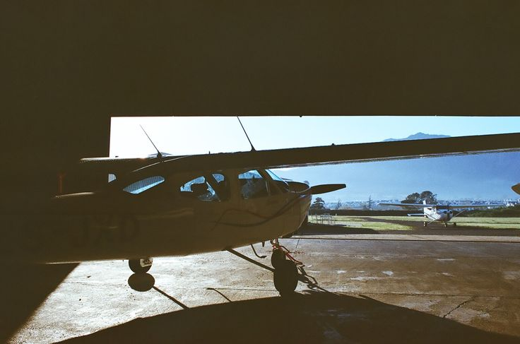 The Hanger. Cessna C177B with a C172 Taxiing in.