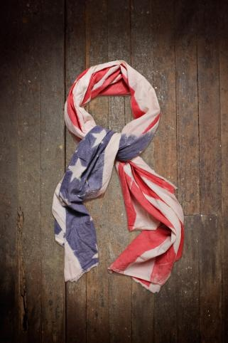 Unions of Smith Linen Flag Scarf, $54.99