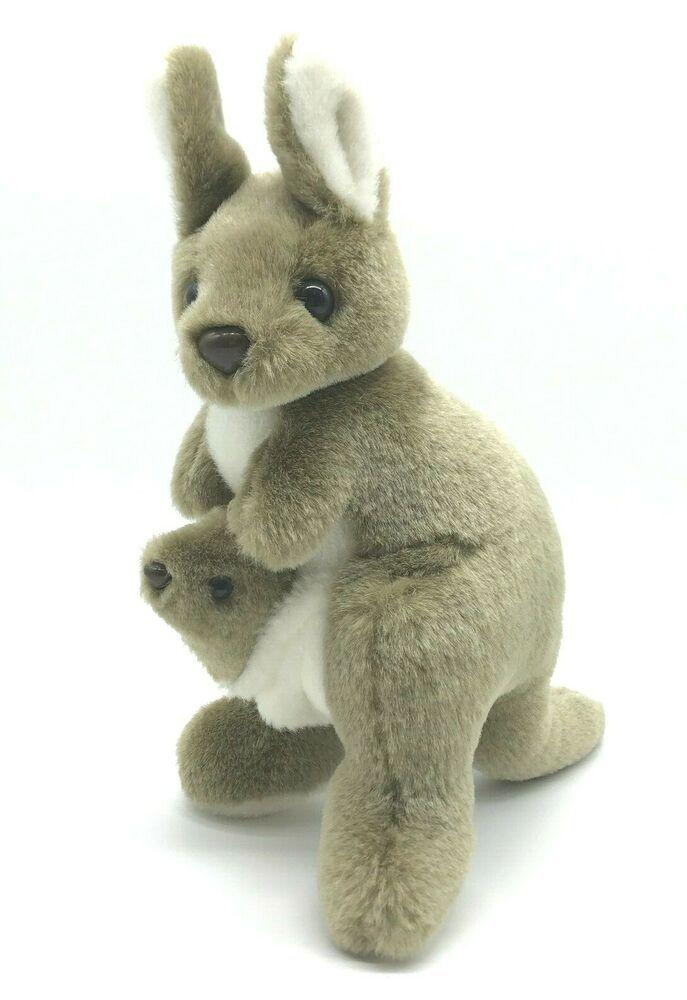 Kangaroo Joey In Pouch Plush Stuffed Animal Toy Sydney Australia