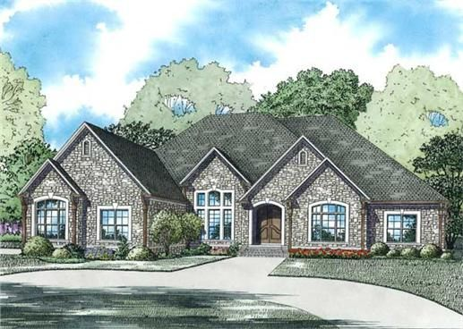 PERFECT LAYOUT,!!  Great <strong>one story house plan</strong> with many features.  The 3 car garage and 4 bedrooms allow for families with teenagers.