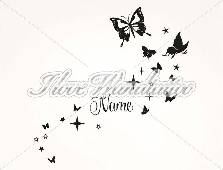 Stunning Wandtattoo Schmetterlinge mit Name Wandtattoo SchmetterlingWanddekorationSchmetterlingeSpr che