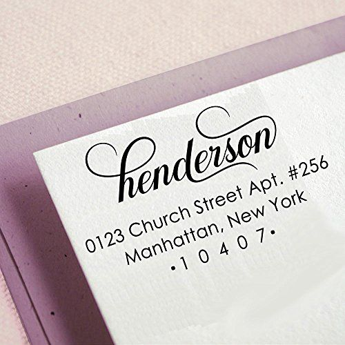 Self Inking Custom Return Address Stamp Personalized Rubber Stamp Proposal Gift Idea