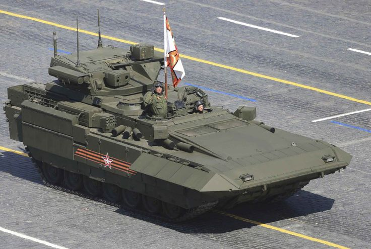 "Heavy Undercarriage ""Armata"". Products to the general public on the platform were presented it at the Victory Parade 2015. (Photo: Reuters)"