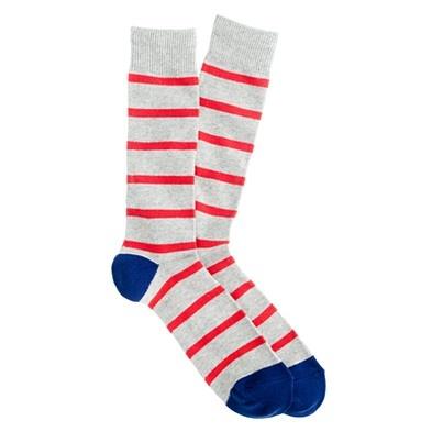 J.Crew Naval-stripe socks