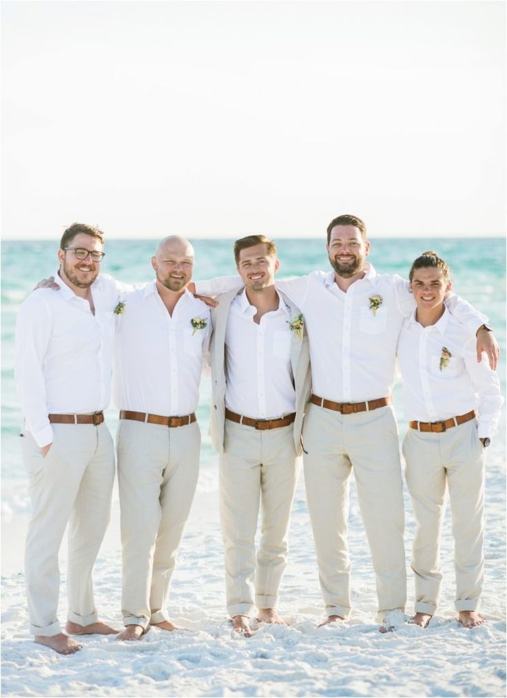 Outfit your groom and his guys in the perfect beach attire to complement your beach wedding!