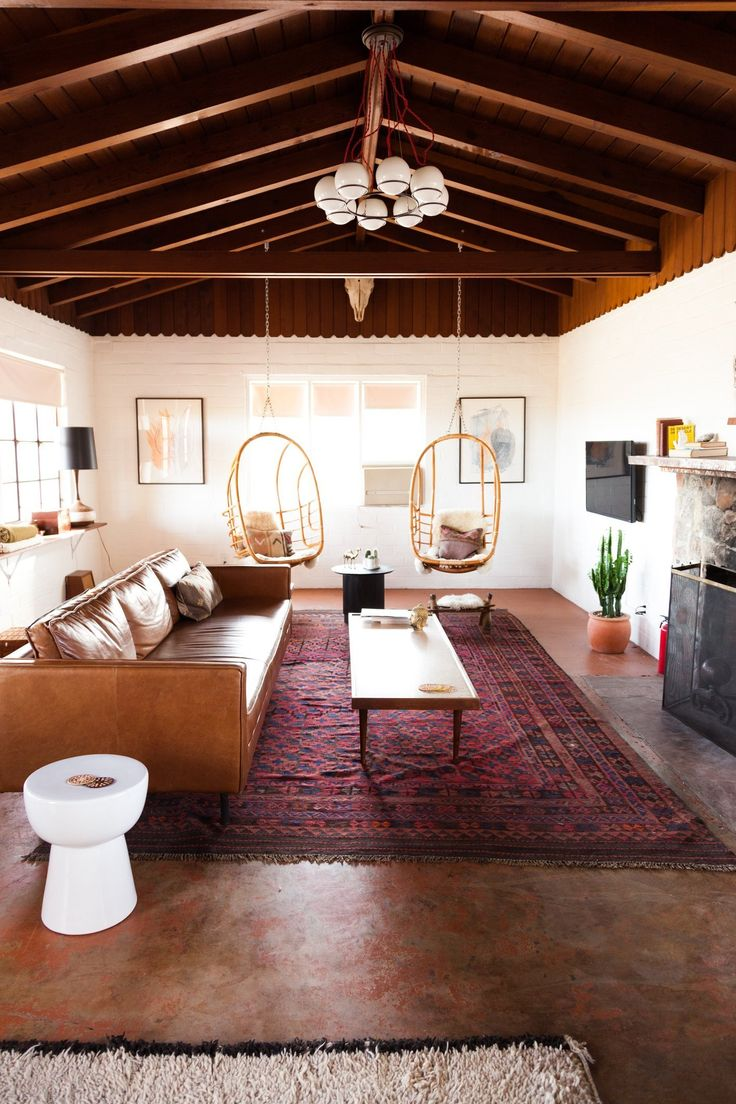 Name: Sara and Rich Combs Location: Joshua Tree, California Size: 1,241 square feet Years Lived In: 8 months; Owned You may remember Sara and Rich from our House Tour of their Colorful, Calm & Sunny California Haven in San Francisco. Today, we have the pleasure of sharing their latest collaborative interiors project: their vacation home in the Mojave Desert dubbed The Joshua Tree House.