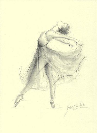 BALLERINE. Art Print de dessin par Ewa Gawlik au par EwaGawlik