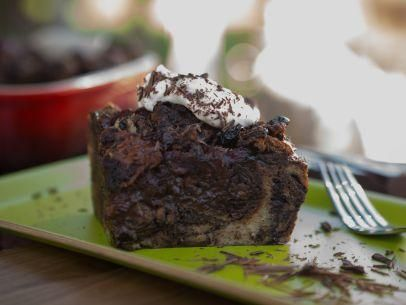 "Chocolate Babka Bread Pudding with Rum-Spiked Cherries (A Very Fieri Thanksgiving) - Guy Fieri, ""Guys Big Bite"" on the Food Network."