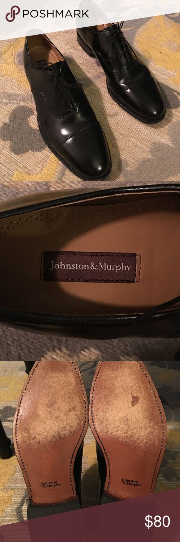 Johnson & Murphy dress shoes Wore for 4 hours in a wedding as a groomsman.  No longer needed, EXCELLENT used condition. Full price: $150 at the outlet mall Johnston & Murphy Shoes Oxfords & Derbys