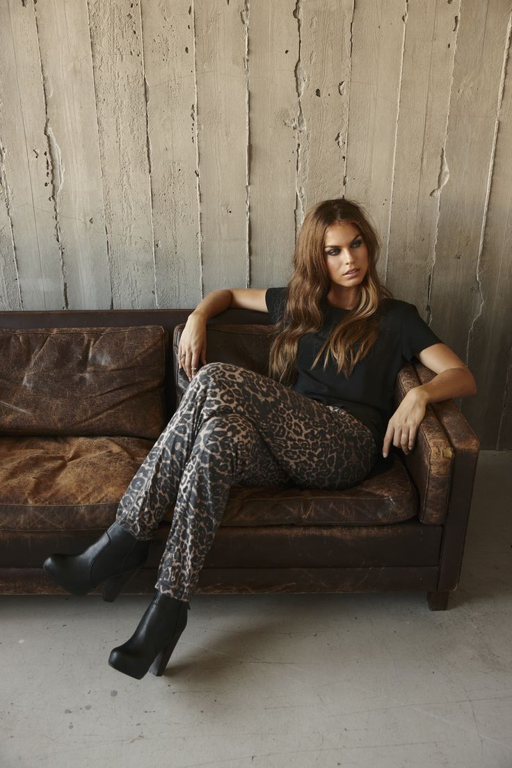 The cool Bat woven top printed in lovely quality styled with the must have Cleo Jersey Pants.