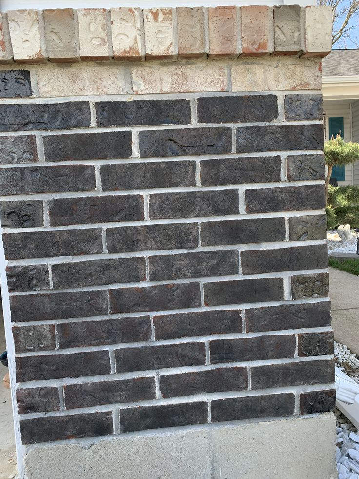 Black stained exterior brick in 2020 exterior brick