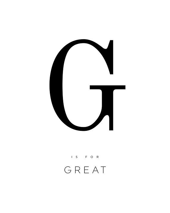 graphic regarding Printable Poster Letters identified as LETTER G POSTER, letter g print, excellent, alphabet poster