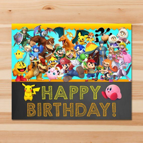 Pin On Super Smash Brothers Party Printables