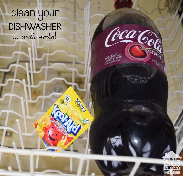 use soda to clean your dishwasher