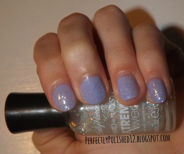 "PerfectlyPolished12: Sally Hansen Xtreme Wear's ""Disco Ball"" over OPI's ""You're Such A Budapest"""