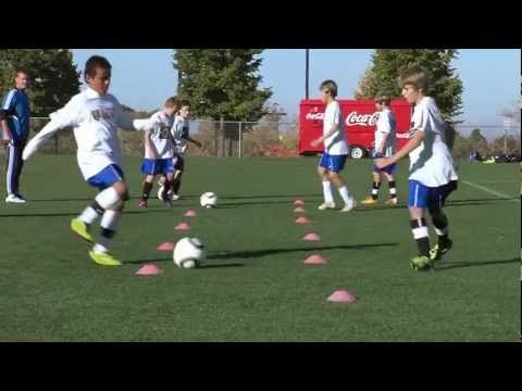 Soccer Training - Passing Drills 1 - YouTube