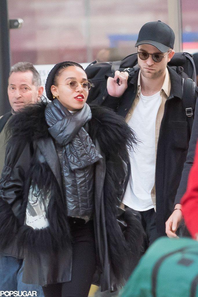 Robert Pattinson and FKA Twigs Arriving in Paris Pictures | POPSUGAR Celebrity