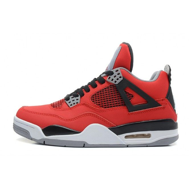 Air Jordan 4 Retro \u201cToro Bravo\u201d Fire Red/White-Black-Cement Grey For Sale