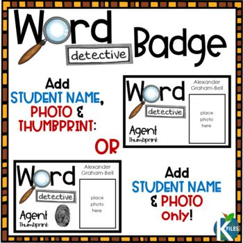 These editable Word Detective Badges and Certifica…Edit description